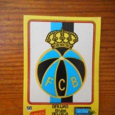 Cromos de Fútbol: BRUJAS, CROMO Nº 58 DEL ÁLBUM DE LOS ESCUDOS DE CROPAN. NO PEGADO. BUEN ESTADO. DIFÍCIL. Lote 58098748