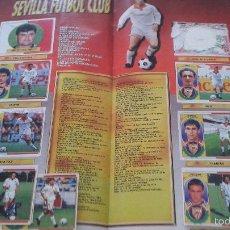 Cromos de Fútbol: 96-97 ESTE. PÁGINA SEVILLA FC CON AUTOGRAFOS EN MAYORIA DE LOS CROMOS. VER FOTOS. LEER. Lote 124230671