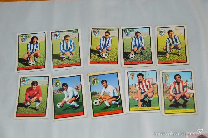 LOTE 10 CROMOS - C.D MÁLAGA, BURGOS C.F Y R. GIJÓN - FHER - CAMPEONATO DE LIGA 72 / 73 - LOTE06 (Coleccionismo Deportivo - Álbumes y Cromos de Deportes - Cromos de Fútbol)