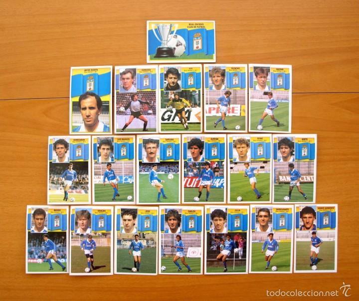 OVIEDO - ESTE 1990-1991, 90-91 - EQUIPO COMPLETO, 19 CROMOS, NUNCA PEGADOS (Coleccionismo Deportivo - Álbumes y Cromos de Deportes - Cromos de Fútbol)