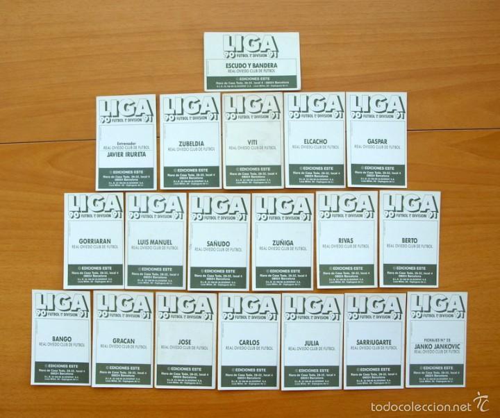 Cromos de Fútbol: Oviedo - Este 1990-1991, 90-91 - Equipo completo, 19 cromos, nunca pegados - Foto 2 - 58114132