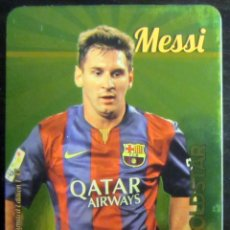 Cromos de Fútbol: MUNDICROMO MC 2016 LEO MESSI GOLDSTAR METALCARDS LIMITED EDITION. Lote 58191786
