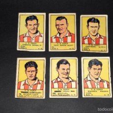 Cromos de Fútbol: LOTE 6 CROMOS FUTBOLISTAS CD GIJON ALBUM CULTURA. BRUGUERA . AÑOS 40S. NUNCA PEGADOS. Lote 58288566