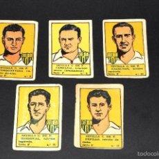 Cromos de Fútbol: LOTE 5 CROMOS FUTBOLISTAS SEVILLA CF. ALBUM CULTURA. BRUGUERA . AÑOS 40S. NUNCA PEGADOS. Lote 58288718