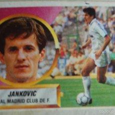 Cromos de Fútbol: CROMO ALBUM ESTE 88 89 1988 1989 REAL MADRID JANKOVIC BAJA. Lote 58326822