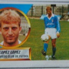 Cromos de Fútbol: CROMO ALBUM ESTE 88 89 1988 1989 OVIEDO COLOCA LOPEZ LOPEZ MUY DIFICIL. Lote 58326851