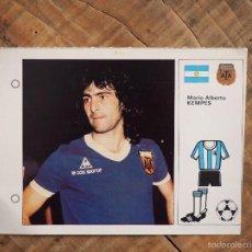 Cromos de Fútbol: ESTRELLAS DEL MUNDIAL 82 Nº 19 MARIO ALBERTO KEMPES, SELECCION ARGENTINA FUTBOL. Lote 58342983