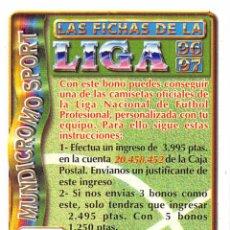 Cromos de Fútbol: MUNDICROMO 96/97 1996/1997 BONO CAMISETA. Lote 126594648
