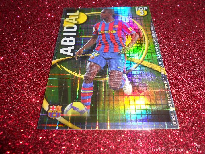 abidal - 577 - barcelona - top dorado cuadros - - Comprar Cromos de ...