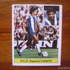 Cromos de Fútbol: CANITO ( R.C.D. ESPAÑOL ) - ESTE 81/82 1981/82 ULTIMOS FICHAJES NÚMERO 4 - SIN PEGAR NUEVO. Lote 58740828