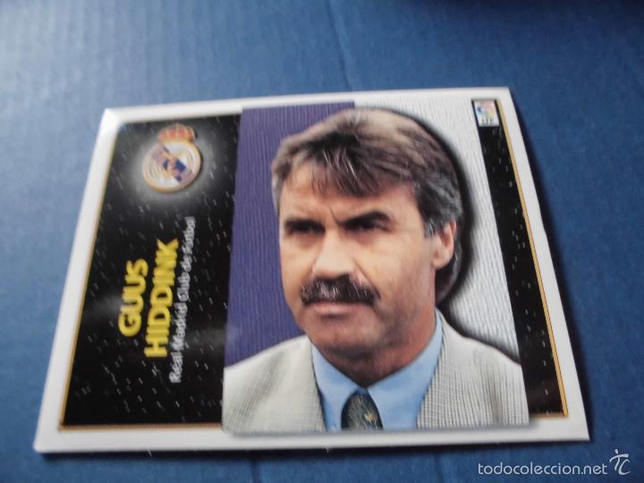 GUUS HIDDINK REAL MADRID CROMO 98 99 ED ESTE LIGA 1998 1999 FUTBOL