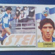 Cromos de Fútbol: 86-87 ESTE. COLOCA SABADELL GIMENEZ. Lote 59174770