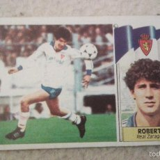 Cromos de Fútbol: 86-87 ESTE. COLOCA REAL ZARAGOZA ROBERTO. Lote 59206210