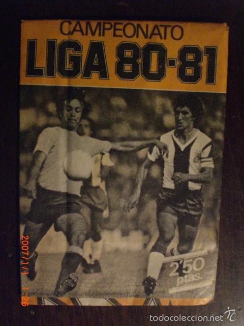 SOBRECITO SIN ABRIR LIGA 80 - 81 ESTE (Coleccionismo Deportivo - Álbumes y Cromos de Deportes - Cromos de Fútbol)