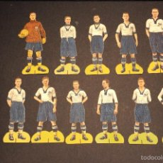 Cromos de Fútbol: CD EUROPA. SERIE COMPLETA DE 11 CROMOS TROQUELADOS. PUBLICIDAD CHOCOLATES PIERA. TARRASA. AÑOS 1920S. Lote 59749452