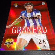 Cromos de Fútbol: MGK 430 GRANERO MEGA HEROES REAL SOCIEDAD CROMOS ALBUM MEGACRACKS LIGA FUTBOL 2015 2016 15 16. Lote 269188162