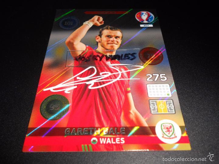 e5dcd4a2a 457 GARETH BALE SIGNATURE WALES GALES CROMOS ADRENALYN XL UEFA FRANCIA EURO  2016 EURO2016 FRANCE (