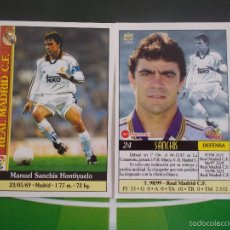 Cromos de Fútbol: 24 SANCHIS REAL MADRID CROMOS ALBUM MUNDICROMO FICHAS LIGA FUTBOL QUIZ GAME 1999 2000 99 00. Lote 179334185