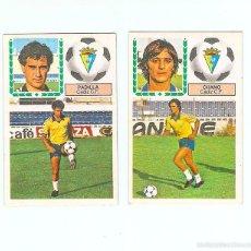 Cromos de Fútbol: IGA 83-84. CADIZ C.F. CHANO Y PADILLA. EDICIONES ESTE. 2 CROMOS. NUNCA PEGADOS. Lote 77382193