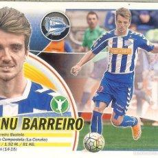 Cromos de Fútbol: CROMO ESTE PANINI 2016 - 17 - (16 - 17) Nº 14 A - MANU BARREIRO (ALAVÉS) LOGO SANTANDER. Lote 70324113