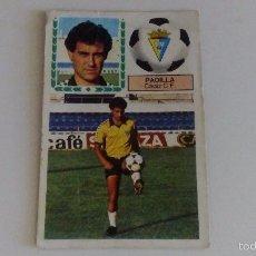 Cromos de Fútbol: PADILLA - CADIZ - FICHAJES 22 LIGA 83 84 / EDICIONES ESTE (DESPEGADO). Lote 61252495