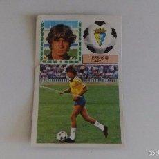 Cromos de Fútbol: FRANCIS - CADIZ - FICHAJES 29 LIGA 83 84 / EDICIONES ESTE . Lote 61323195