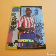 Figurine di Calcio: PEREA - 119 - ATLETICO DE MADRID - SUPERSTAR BRILLO LISO - TOP LIGA 2005 - MUNDICROMO. Lote 61414511