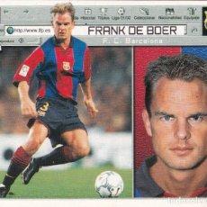 Cromos de Fútbol: ESTE 2001-02 FRANK DE BOER ( BAJA MUY DIFICIL ) DE SOBRE. Lote 61771444