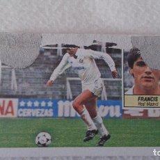 Cartes à collectionner de Football: RESERVADO 84 85 FICHAJE 7 REAL MADRID FRANCIS CON PÉRDIDA DE PAPEL FRONTAL. Lote 62111384