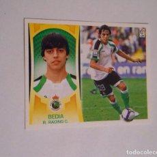 Cromos de Fútbol: CROMO BEDIA RACING DE SANTANDER LIGA 2009-2010. TDKP8. Lote 62419468