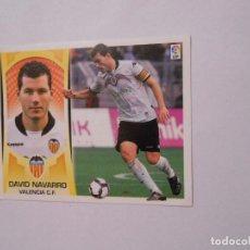 Cromos de Fútbol: CROMO DAVID NAVARRO. VALENCIA C.F. LIGA 2009-2010. EDICIONES ESTE. TDKP8. Lote 62420752