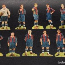Cromos de Fútbol: FOOT-BALL CLUB BARCELONA. SENSACIONAL COLECCIÓN 11 TROQUELADO PUBLICIDAD CHOCOLATES PIERA. AÑOS 20. Lote 62531556