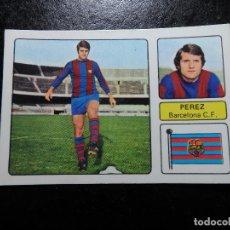 Cromos de Fútbol: PEREZ DEL BARCELONA ALBUM FHER LIGA 1973 - 1974 ( 73 - 74 ) NUNCA PEGADO. Lote 244196600