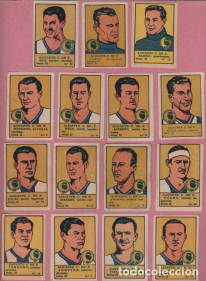 COLE CROMOS DE FUTBOL EDITORIAL VALENCIA TEMPORADA 1941 - 42 - ALICANTE CLUB DE FUTBOL - HERCULES (Coleccionismo Deportivo - Álbumes y Cromos de Deportes - Cromos de Fútbol)