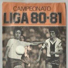 Cromos de Fútbol: SOBRE VACÍO NARANJA CAMPEONATO DE LIGA 1980 1981 80 81 ESTE. Lote 86765618