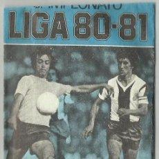Cromos de Fútbol: SOBRE VACÍO AZUL CAMPEONATO DE LIGA 1980 1981 80 81 ESTE. Lote 62990116