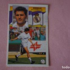 Cromos de Fútbol: CROMO DE FÚTBOL:GORDILLO DEL REAL MADRID C.F.,(DESPEGADO),LIGA ESTE 1990-1991/90-91. Lote 148245741