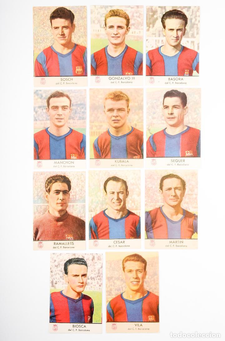 COLECCION COMPLETA 11 CROMOS DEL F.C.BARCELONA- RAMALLETS-KUBALA- (Coleccionismo Deportivo - Álbumes y Cromos de Deportes - Cromos de Fútbol)