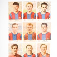 Cromos de Fútbol: COLECCION COMPLETA 11 CROMOS DEL F.C.BARCELONA- RAMALLETS-KUBALA-. Lote 262909095