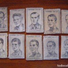 Cromos de Fútbol: REAL OVIEDO C.F. - 17 CROMOS - TEMPORADA 1936/37 (FRONTALES DE CAJAS CERILLAS) - EQUIPO COMPLETO. Lote 51795401