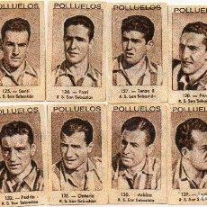 Cromos de Fútbol: REAL SOCIEDAD,DEL ALBUM Nº 1, DE LOS POLLUELOS 1943-44.DE NOVELDA ALICANTE. Lote 63525712