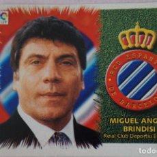Cromos de Fútbol: CROMO DE FÚTBOL BRINDISI DEL R.C.D. ESPAÑOL ESPANYOL SIN PEGAR LIGA ESTE 1999-2000/99-00. Lote 111085402