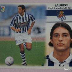 Cromos de Fútbol: CROMO DE FÚTBOL JAUREGI DE LA REAL SOCIEDAD SIN PEGAR LIGA ESTE 1999-2000/99-00. Lote 111083292