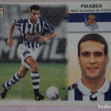Cromos de Fútbol: CROMO DE FÚTBOL PIKABEA DE LA REAL SOCIEDAD SIN PEGAR LIGA ESTE 1999-2000/99-00. Lote 111083427