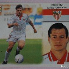 Cromos de Fútbol: CROMO DE FÚTBOL PRIETO DEL SEVILLA F.C. SIN PEGAR LIGA ESTE 1999-2000/99-00. Lote 111083655