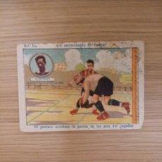 Cromos de Fútbol: UN CAMPEONATO DE FUTBOL 1922 - 22 - ECHEVESTE - REAL UNION DE IRUN - 14 - CHOCOLATE AMATLLER (LEER) . Lote 63802523