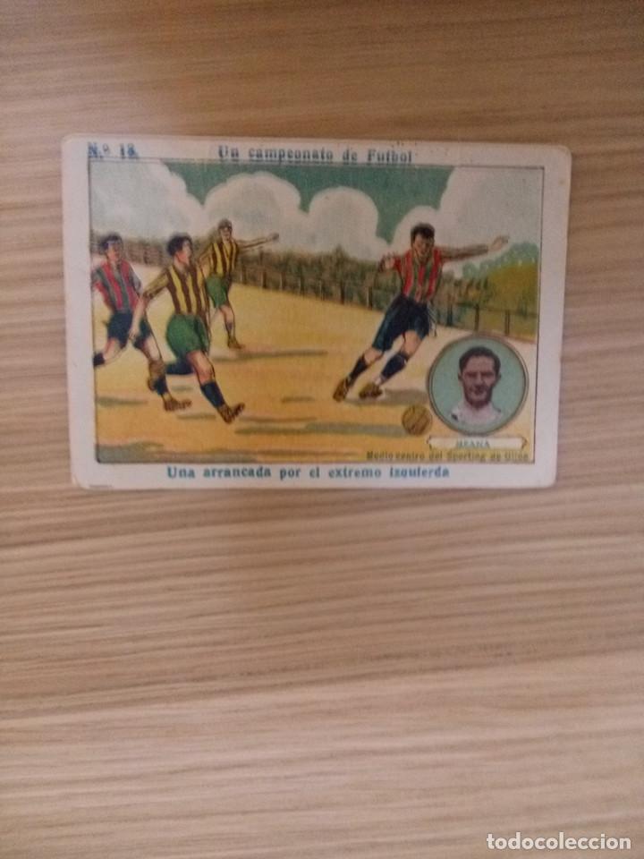 UN CAMPEONATO DE FUTBOL 1922 - 22 - MEANA -SPORTING DE GIJON - 13 - CHOCOLATE AMATLLER (LEER) (Coleccionismo Deportivo - Álbumes y Cromos de Deportes - Cromos de Fútbol)