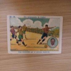 Cromos de Fútbol: UN CAMPEONATO DE FUTBOL 1922 - 22 - MEANA -SPORTING DE GIJON - 13 - CHOCOLATE AMATLLER (LEER) . Lote 63802971