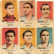 Cromos de Fútbol: SEVILLA, DEL ALBUM POLLUELOS Nº 2, 1944-45, DE NOVELDA ALICANTE. Lote 64031083
