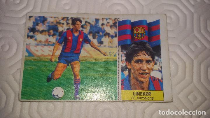 LINEKER. F.C.BARCELONA EDI ESTE 86 87 NUNCA PEGADO (Coleccionismo Deportivo - Álbumes y Cromos de Deportes - Cromos de Fútbol)
